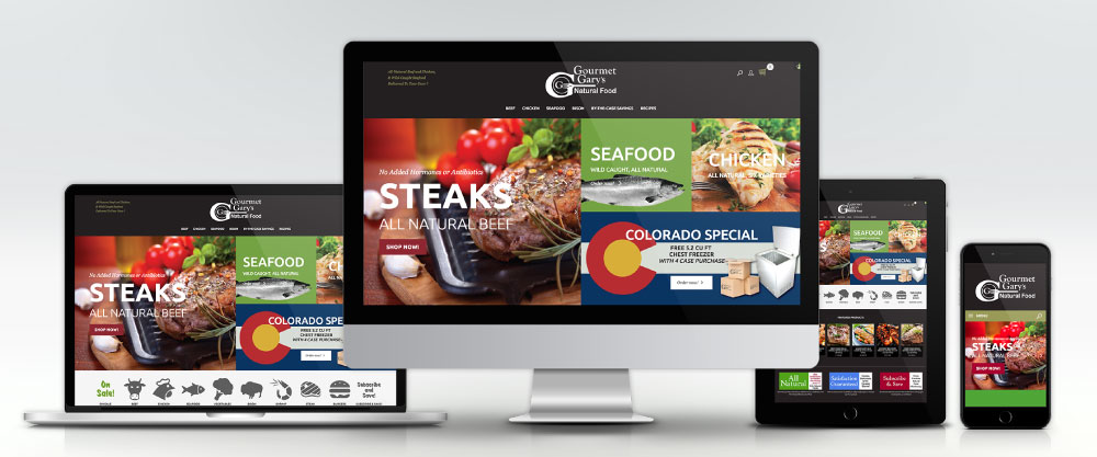 Gourmet Gary Website on Four Devices