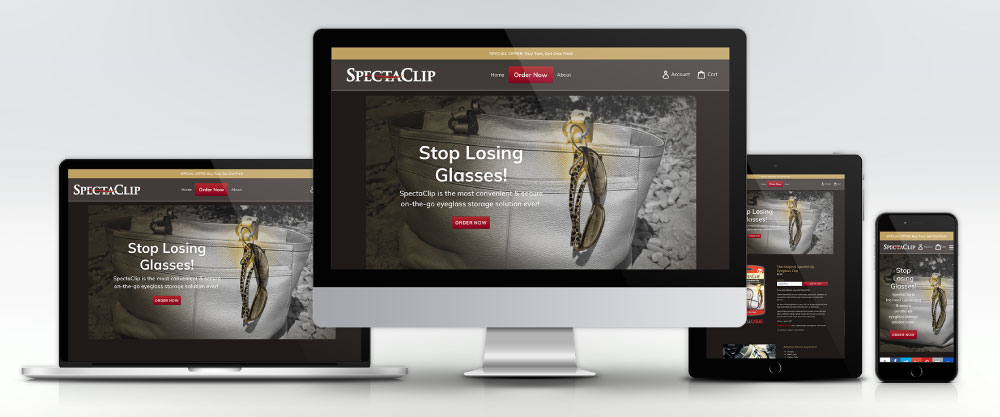 SpectaClip.com Website on Four Devices