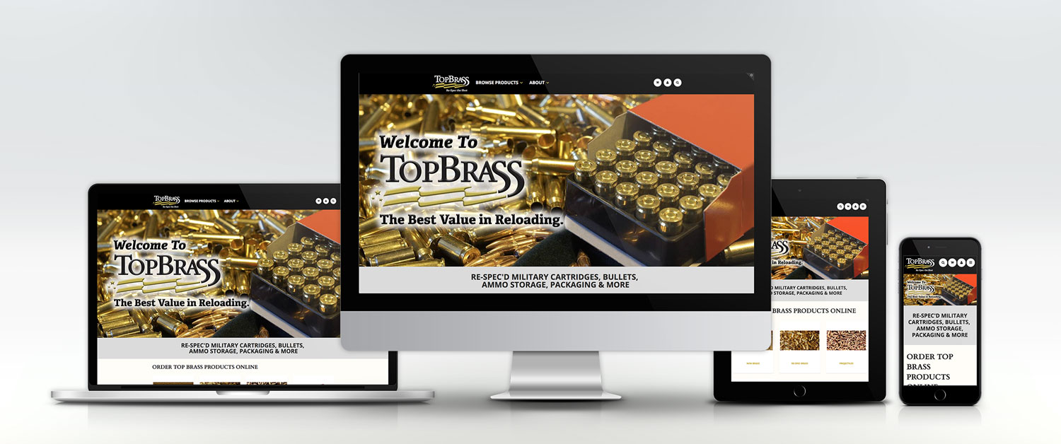 Top Brass Website on Different Devices